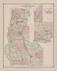 Cayuga County, New York 1875 - Old Town Map Reprint - Cayuga Co. Atlas