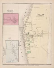 Aurelius Cayuga Village Fosterville Cayuga Lake, New York 1875 - Old Town Map Reprint - Cayuga Co. Atlas