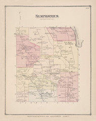 Sempronius Skaneatles Lake , New York 1875 - Old Town Map Reprint - Cayuga Co. Atlas