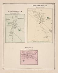 Sempronius Sempronius City Dresserville Montville, New York 1875 - Old Town Map Reprint - Cayuga Co. Atlas