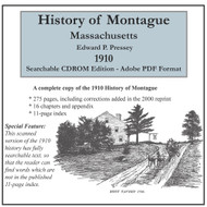 History of Montague, Massachusetts, 1910, CDROM Old Map