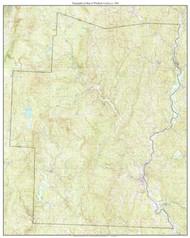 Windham County 1986 - Custom USGS Old Topo Map - Vermont