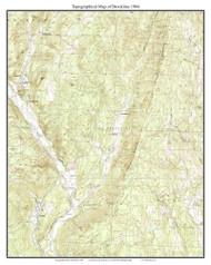 Brookline 1984 - Custom USGS Old Topo Map - Vermont