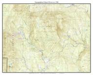 Dover 1986 - Custom USGS Old Topo Map - Vermont