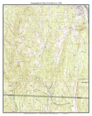 Guilford 1984 - Custom USGS Old Topo Map - Vermont