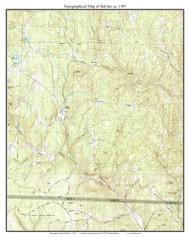 Halifax 1987 - Custom USGS Old Topo Map - Vermont
