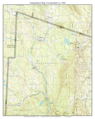 Londonderry 1986 - Custom USGS Old Topo Map - Vermont