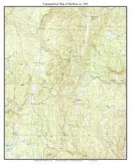 Marlboro 1984 - Custom USGS Old Topo Map - Vermont