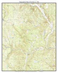 Newfane 1984 - Custom USGS Old Topo Map - Vermont