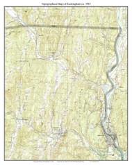 Rockingham 1985 - Custom USGS Old Topo Map - Vermont