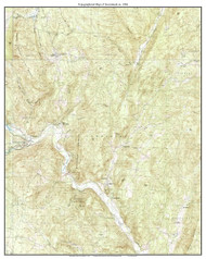 Townshend 1984 - Custom USGS Old Topo Map - Vermont