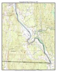 Vernon 1984 - Custom USGS Old Topo Map - Vermont