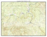 Wardsboro 1986 - Custom USGS Old Topo Map - Vermont