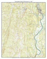 Westminster 1985 - Custom USGS Old Topo Map - Vermont