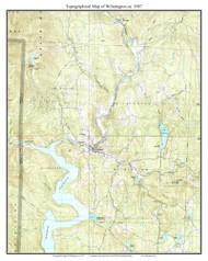 Wilmington 1987 - Custom USGS Old Topo Map - Vermont