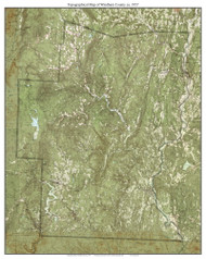 Windham County 1957 - Custom USGS Old Topo Map - Vermont