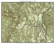 Brattleboro 1956 - Custom USGS Old Topo Map - Vermont