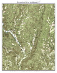 Brookline 1957 - Custom USGS Old Topo Map - Vermont