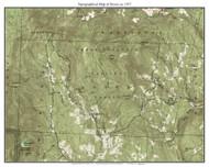 Dover 1957 - Custom USGS Old Topo Map - Vermont