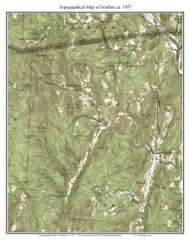 Grafton 1957 - Custom USGS Old Topo Map - Vermont