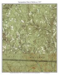 Halifax 1957 - Custom USGS Old Topo Map - Vermont