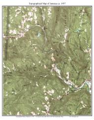 Jamacia 1957 - Custom USGS Old Topo Map - Vermont