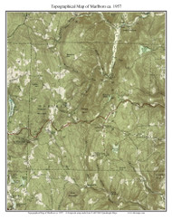 Marlboro 1957 - Custom USGS Old Topo Map - Vermont