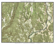 Putney 1957 - Custom USGS Old Topo Map - Vermont