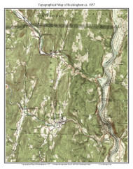 Rockingham 1957 - Custom USGS Old Topo Map - Vermont