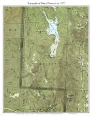 Somerset 1957 - Custom USGS Old Topo Map - Vermont