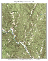 Townshend 1957 - Custom USGS Old Topo Map - Vermont
