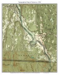 Vernon 1956 - Custom USGS Old Topo Map - Vermont