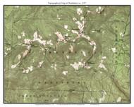 Wardsboro 1957 - Custom USGS Old Topo Map - Vermont