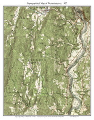 Westminster 1957 - Custom USGS Old Topo Map - Vermont