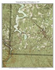 Whitingham 1957 - Custom USGS Old Topo Map - Vermont