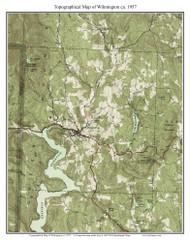 Wilmington 1957 - Custom USGS Old Topo Map - Vermont