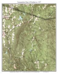 Windham 1957 - Custom USGS Old Topo Map - Vermont