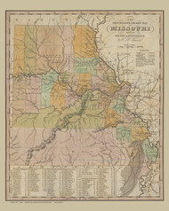 Missouri 1831 Tanner - Old State Map Reprint