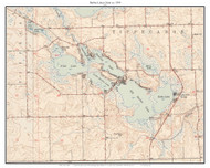 Barbee Lakes Chain 1950 - Custom USGS Old Topo Map - Indiana