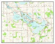 Barbee Lakes Chain 1961 - Custom USGS Old Topo Map - Indiana