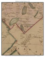 Sabbathday Lake Shaker Settlement, Maine ca. 1858 Old Town Map Custom Print - Androscoggin Co.