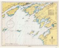 Clayton to Stony Point 1943 Lake Ontario Harbor Chart Reprint 21