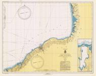 Six Miles South of Stony Point to Port Bay 1943 Lake Ontario Harbor Chart Reprint 22