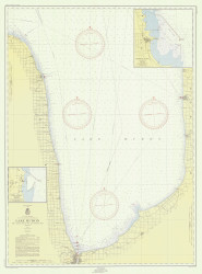 Port Huron to Pte. Aux Barques 1954 Lake Huron Harbor Chart Reprint 51