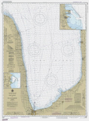 Port Huron to Pte. Aux Barques 1985 Lake Huron Harbor Chart Reprint 51