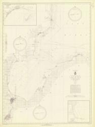 Saginaw Bay 1942 Lake Huron Harbor Chart Reprint 52