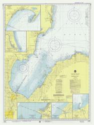 Saginaw Bay 1975 Lake Huron Harbor Chart Reprint 52
