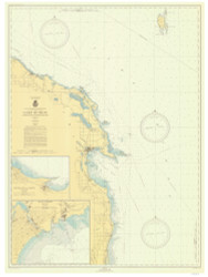 Harrisville to Forty Mile Point 1943 Lake Huron Harbor Chart Reprint 53