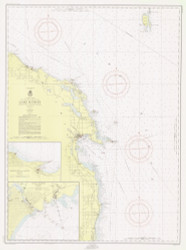 Harrisville to Forty Mile Point 1955 Lake Huron Harbor Chart Reprint 53