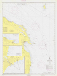 Harrisville to Forty Mile Point 1964 Lake Huron Harbor Chart Reprint 53